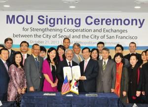以實質合作強化首爾與加州的40年友誼