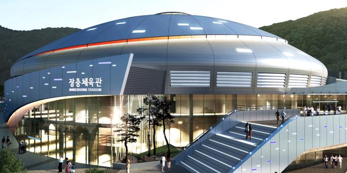 韓國第一座室內賽場 – 獎忠體育館