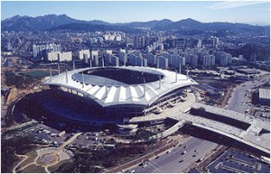 Seoul World Cup Stadium from Nanjido(Daytime)