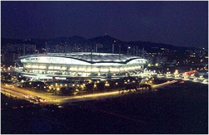 Seoul World Cup Stadium from Nanjido(Night)